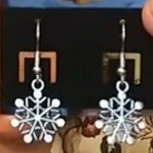 Silver Snowflake Earrings